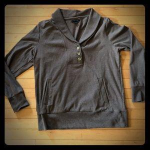 Banana Republic XL shawl collar sweatshirt mocha